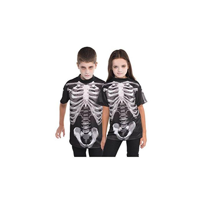 Halloweeen -  Dress Up Black And Bone Halloween Skeleton T Shirt