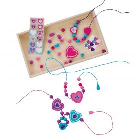 Melissa and Doug - Decorate-Your-Own Heart Bead Set
