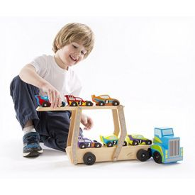 Melissa and Doug - Mega Race Car Carrier Toy