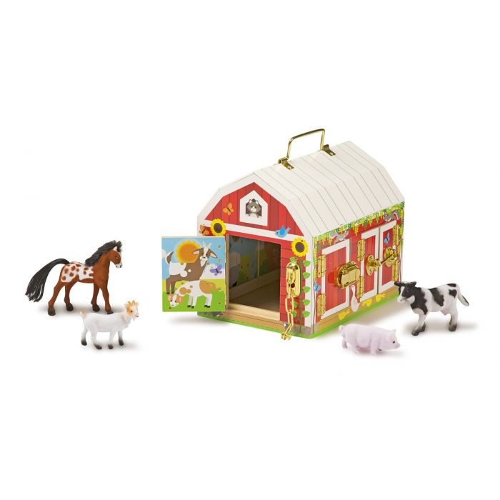Melissa and Doug Wooden Latches Barn
