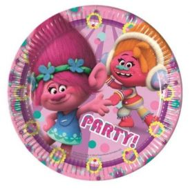 Trolls Paper Party  Plates (8 Pack)