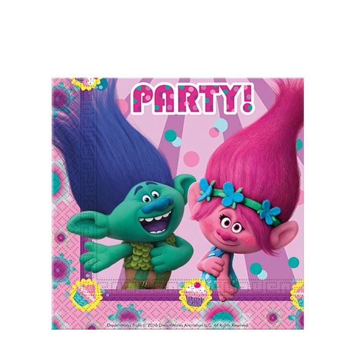 Trolls Party Napkins (20 Pack)