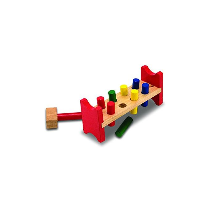 Melissa & Doug - Deluxe Wooden Pound-A-Peg Toy With Hammer