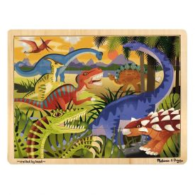 Melissa & Doug - Dinosaurs Wooden Jigsaw Puzzle With Storage Tray (24 pcs)