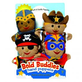 Melissa & Doug - Bold Buddies Hand Puppets (Set of 4) - Knight, Pirate, Sheriff, and Superhero