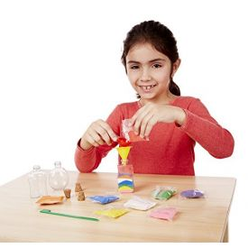 Melissa & Doug - Sand Art Bottles Craft Kit: 3 Bottles, 6 Bags of Colored Sand, Design Tool