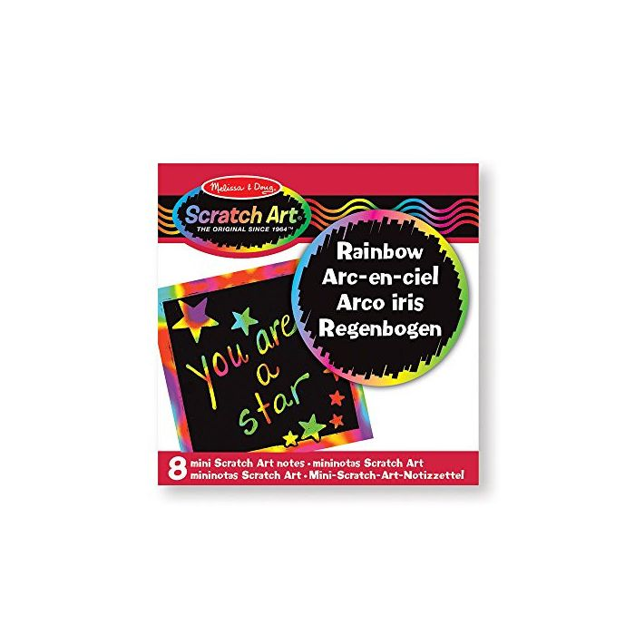 Melissa & Doug - Rainbow Mini Scratch Art Notes in Display