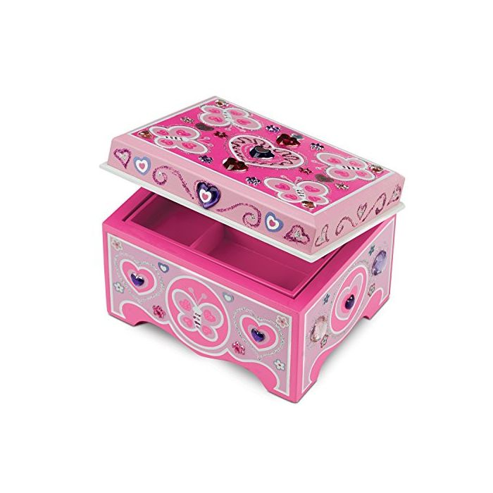 Melissa & Doug - Decorate-Your-Own Wooden Jewelry Box Craft Kit