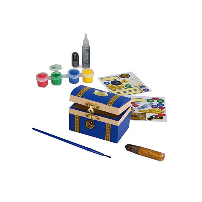 Melissa & Doug - Decorate-Your-Own Wooden Pirate Chest Craft Kit