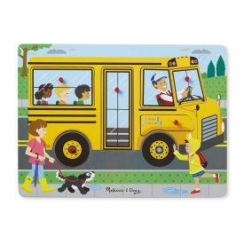 Melissa and Doug The Wheels On The Bus Sound Puzzle (6 Piece)
