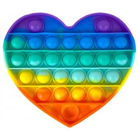 Pop It Rainbow Heart