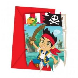Jake and the Neverland Pirates Party Invitations X 6