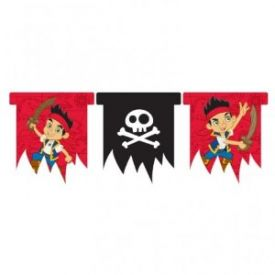 Jake and the Neverland Pirates Party Plastic Flag Banner