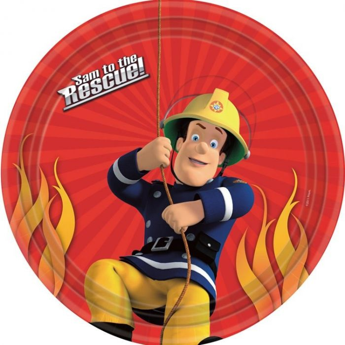 Fireman Sam Party Plates