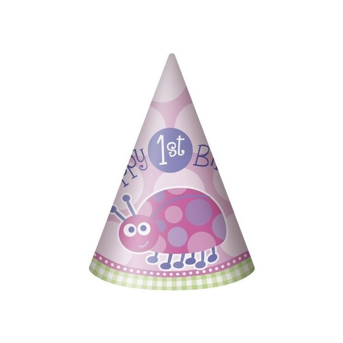 Ladybug First Birthday Pink Hats