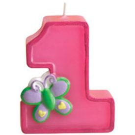 Fun at One Party Girl Birthday Candle