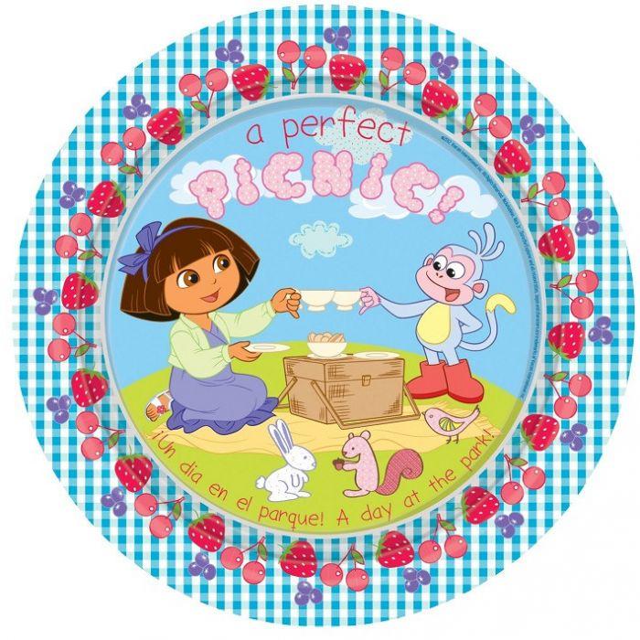 Dora Party Plates