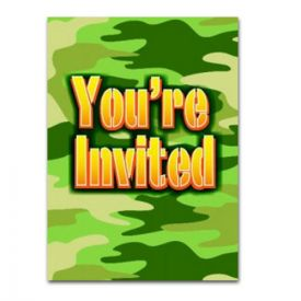 Camouflage Party Invitations