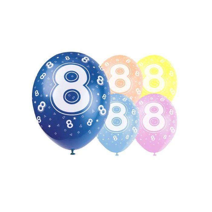Latex Balloons - Age 8