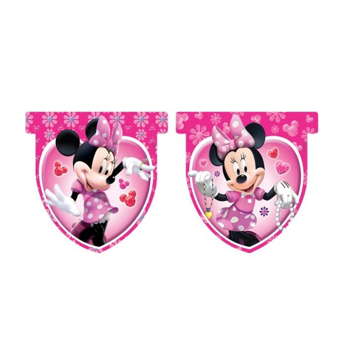 Disney Minnie Mouse Plastic Flag Banner