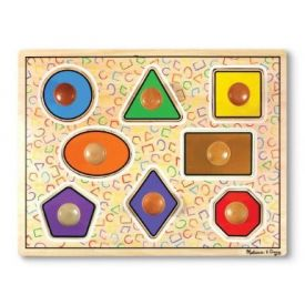 Melissa and Doug - Geometric Shapes Large Peg Puzzle