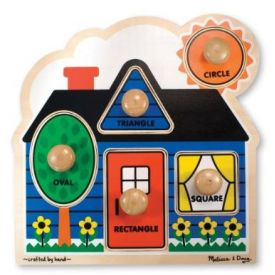 Melissa and Doug - First Shapes Large Peg Puzzle