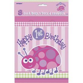 Lady Bug 1st Birthday Loot Bags