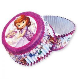 Sofia The First - 24 foil lined cup cake cases