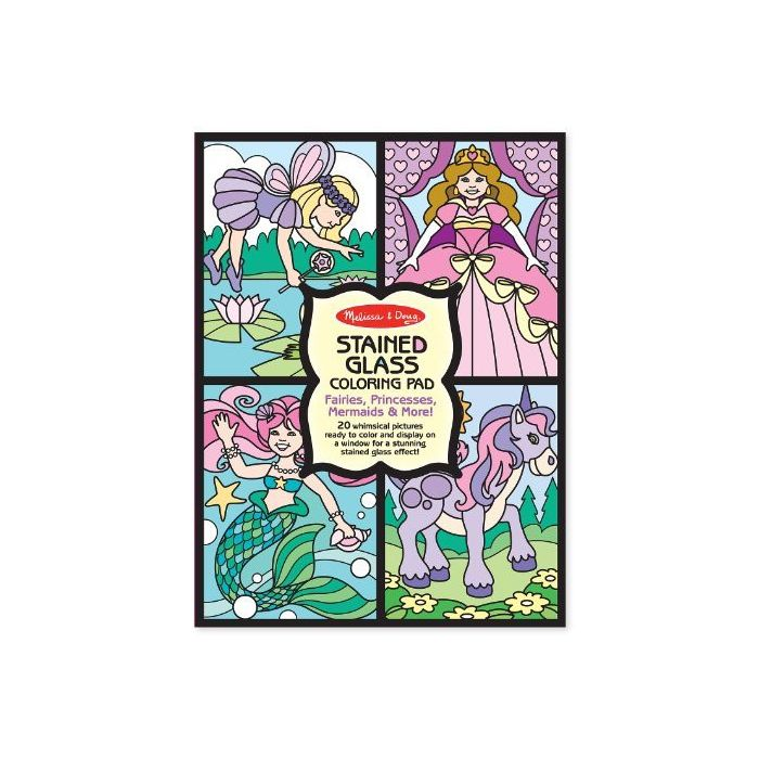 Melissa and Doug - Princess Stained Glass Colouring Pad
