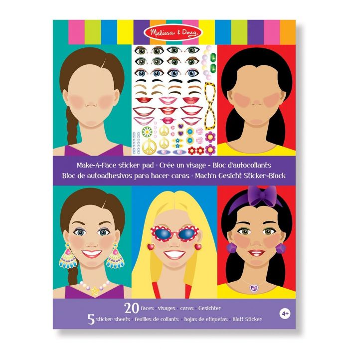 Melissa and Doug - Make A Face Sticker Pad
