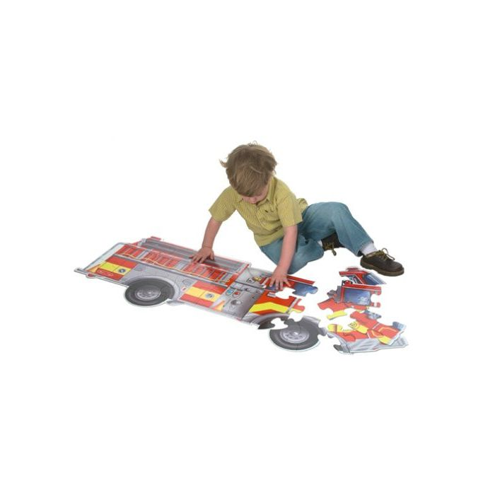 Melissa and Doug - Giant Fire Truck Floor Puzzle