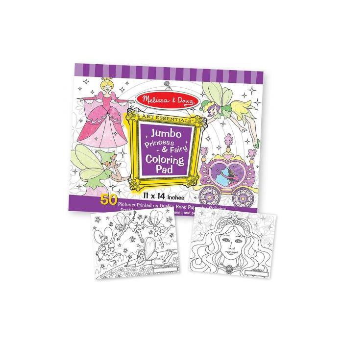 Melissa and Doug - Jumbo Colouring  Pad - Princess and Fairy