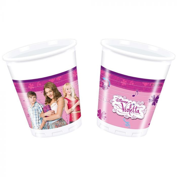 Disney Violetta 200ml Plastic Cups (Pack of 8)