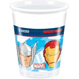 Marvel Avengers 200 ml Plastic Cups (Pack of 8)