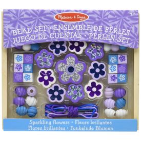 Melissa and Doug - Sparkling Flowers Wooden Bead Set