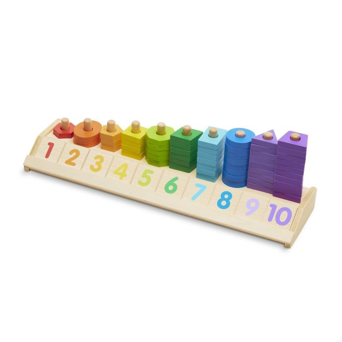 Melissa and Doug - Counting Shape Stacker
