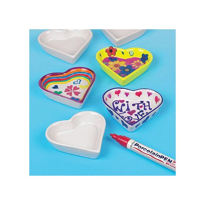 Mini Heart Porcelain Dishes