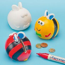 Bug Ceramic Coin Banks