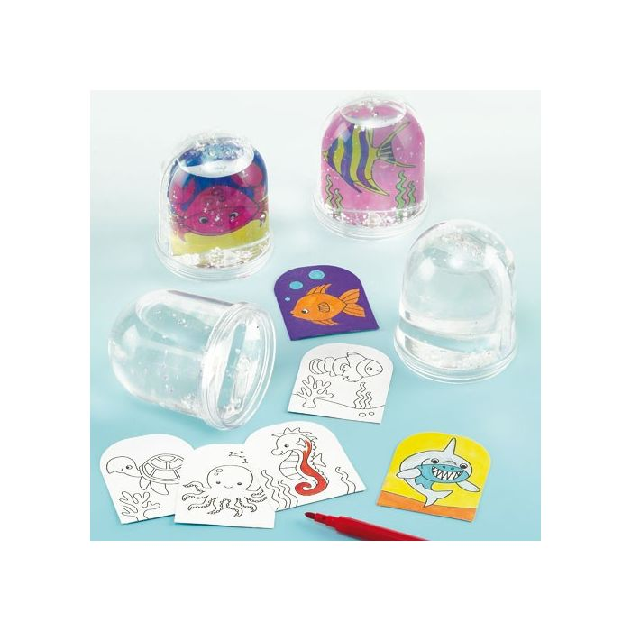 Sealife Colour-in Snow Globes