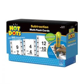 Hot Dots - Subtraction Math Flash Cards