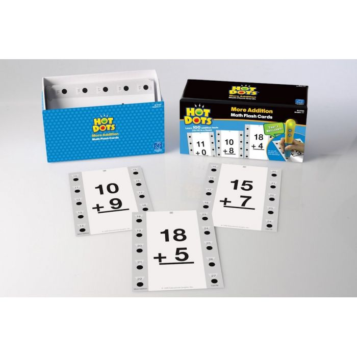 Hot Dots - More Addition Math Flash Cards